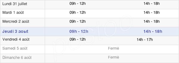 horaires d'ouverture de la Mairie De Latresne