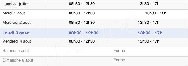 horaires d'ouverture de la Mairie D'Arcachon