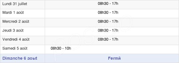 horaires d'ouverture de la Mairie De Mérignac