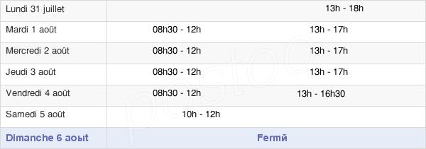 horaires d'ouverture de la Mairie De Saint-Jean-D'Illac