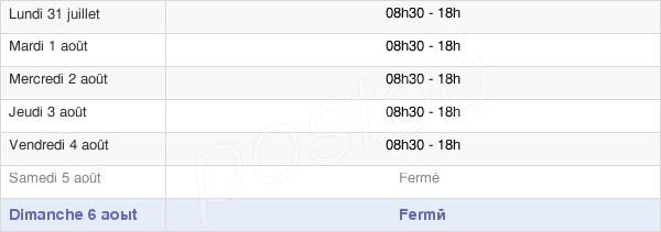 horaires d'ouverture de la Mairie De Bordeaux