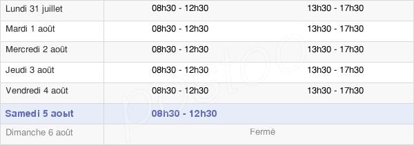 horaires d'ouverture de la Mairie De Ville D'Avray