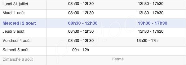 horaires d'ouverture de la Mairie De Marnes-La-Coquette