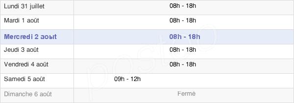horaires d'ouverture de la Mairie De Clichy