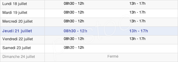 horaires d'ouverture de la Mairie De Garches