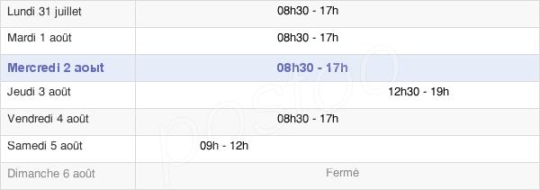 horaires d'ouverture de la Mairie De Asnières-Sur-Seine