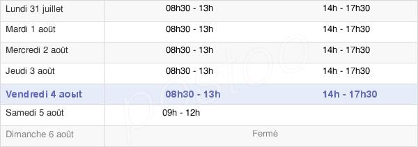 horaires d'ouverture de la Mairie De Vaucresson