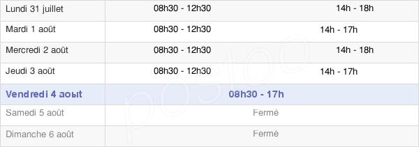horaires d'ouverture de la Mairie De La Rivière-De-Corps