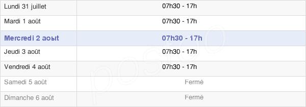 horaires d'ouverture de la Mairie De La Possession