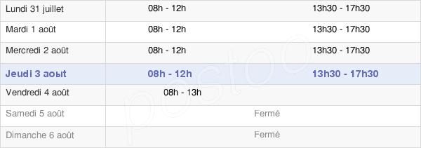 horaires d'ouverture de la Mairie De Freyming-Merlebach