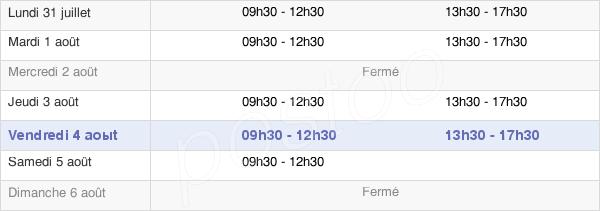 horaires d'ouverture de la Mairie D'Épehy