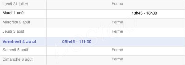 horaires d'ouverture de la Mairie De Vaxy