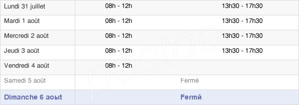 horaires d'ouverture de la Mairie D'Orange