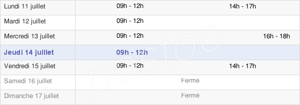 horaires d'ouverture de la Mairie De Rom