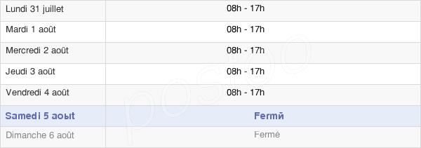 horaires d'ouverture de la Mairie D'Auch