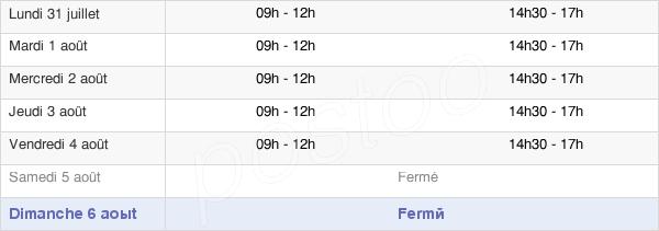 horaires d'ouverture de la Mairie De Villeneuvette