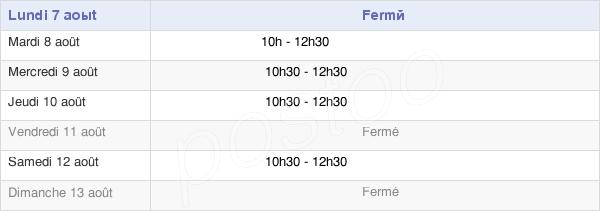 horaires d'ouverture de la Mairie De Hébuterne
