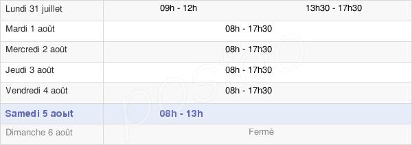 horaires d'ouverture de la Mairie De Laval