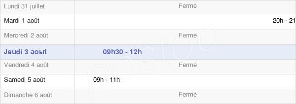 horaires d'ouverture de la Mairie De Thézey-Saint-Martin