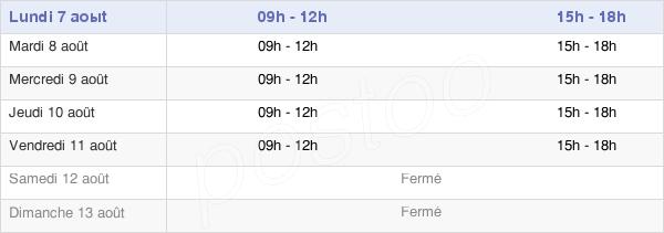 horaires d'ouverture de la Mairie D'Aumetz