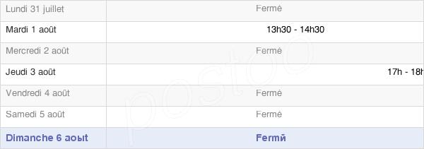 horaires d'ouverture de la Mairie De Secourt