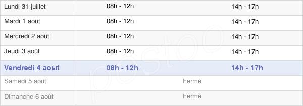 horaires d'ouverture de la Mairie D'Ars-Sur-Moselle