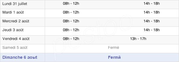 horaires d'ouverture de la Mairie De Cocheren