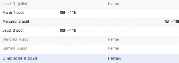 horaires d'ouverture de la Mairie De Lengelsheim