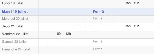 horaires d'ouverture de la Mairie De Raville