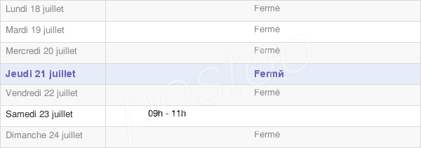 horaires d'ouverture de la Mairie De Denting