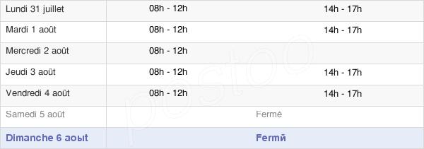 horaires d'ouverture de la Mairie De Béning-Lès-Saint-Avold