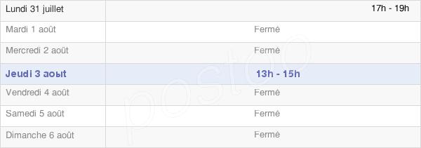 horaires d'ouverture de la Mairie De Liehon