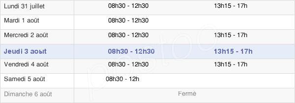 horaires d'ouverture de la Mairie De Mours-Saint-Eusèbe