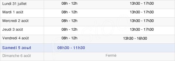 horaires d'ouverture de la Mairie De Réding