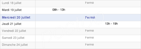 horaires d'ouverture de la Mairie De Narbéfontaine
