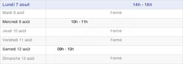 horaires d'ouverture de la Mairie De Lezey