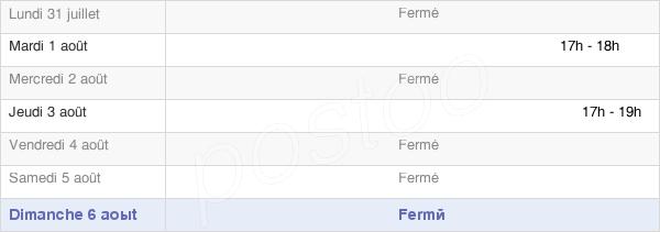 horaires d'ouverture de la Mairie De Pagny-Lès-Goin