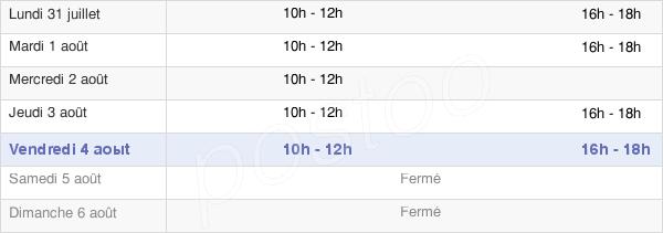 horaires d'ouverture de la Mairie De Troisfontaines