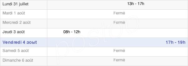 horaires d'ouverture de la Mairie De Bacourt