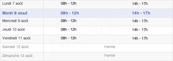 horaires d'ouverture de la Mairie De Folschviller
