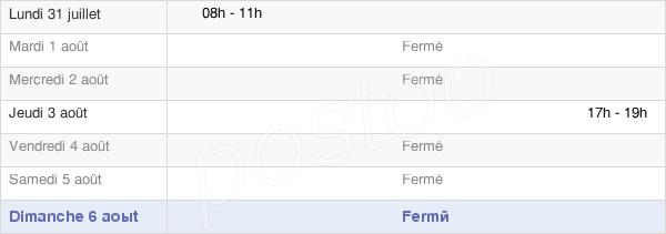 horaires d'ouverture de la Mairie De Bermering