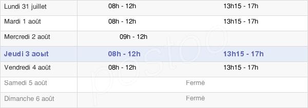 horaires d'ouverture de la Mairie De Vitry-Sur-Orne