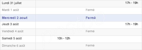 horaires d'ouverture de la Mairie De Cuvry