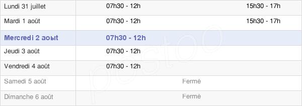 horaires d'ouverture de la Mairie D'Ennery