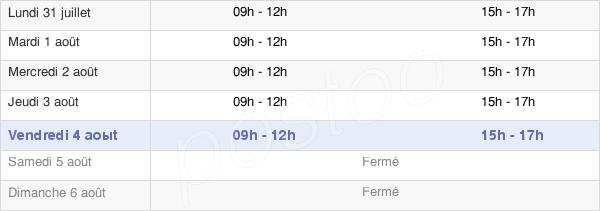 horaires d'ouverture de la Mairie D'Abreschviller