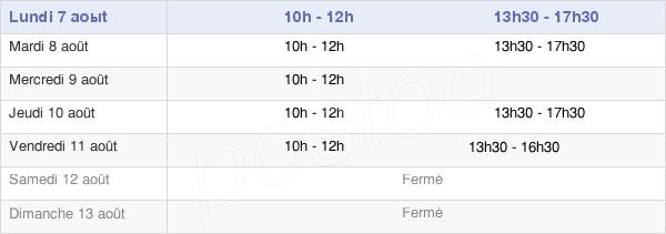horaires d'ouverture de la Mairie De Falck