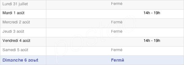 horaires d'ouverture de la Mairie De Fossieux
