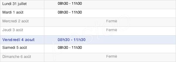 horaires d'ouverture de la Mairie De Fresnes-En-Saulnois