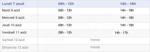 horaires d'ouverture de la Mairie De Vic-Sur-Seille