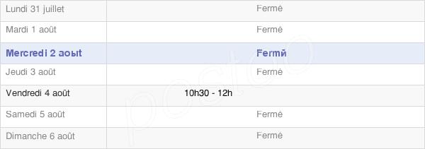 horaires d'ouverture de la Mairie De Fonteny